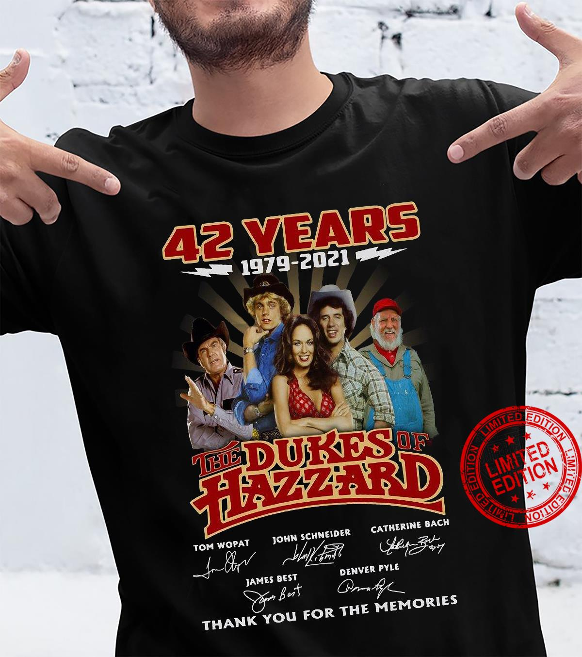 42 years 1979 2021 the dukes hazzard thank you for the memories shirt