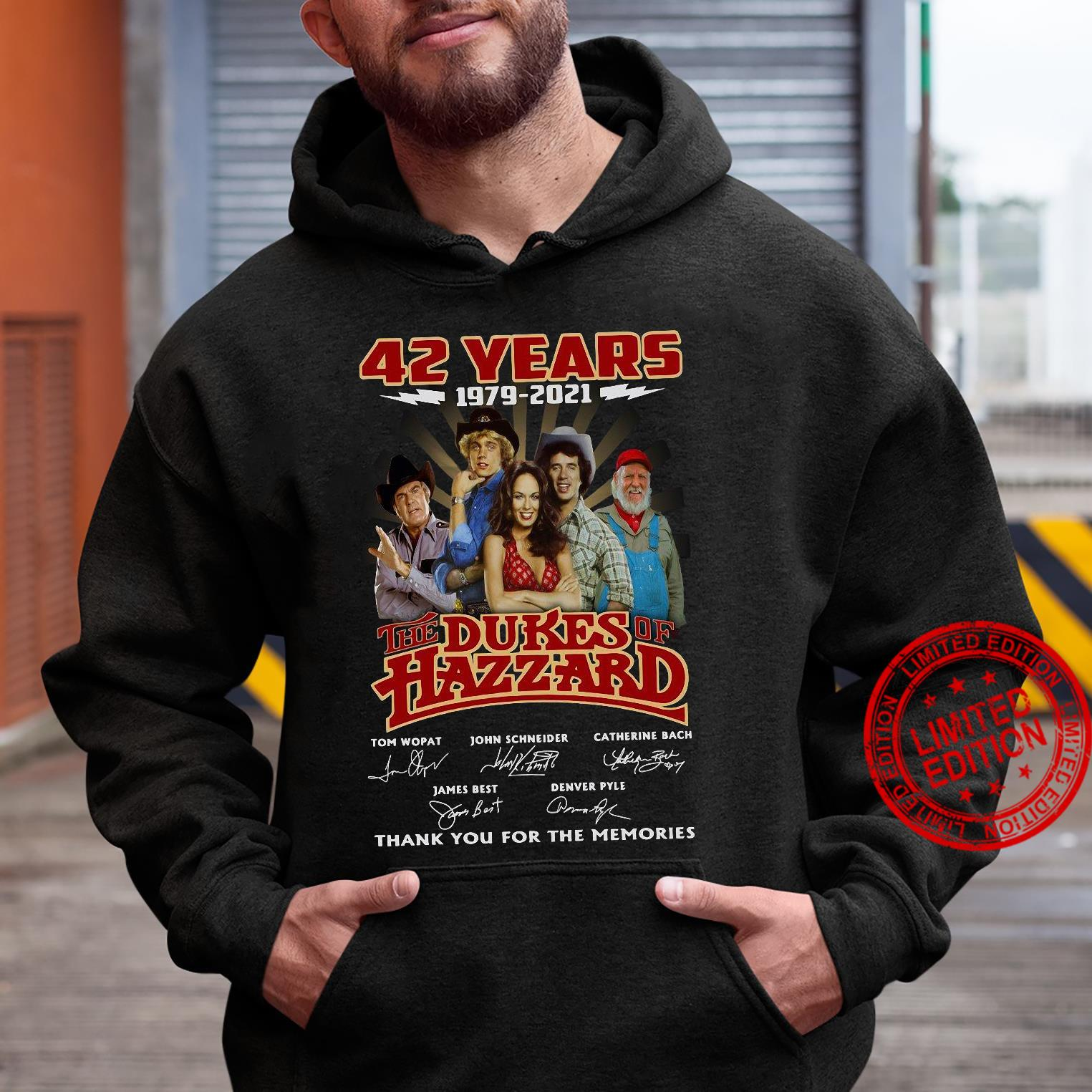 42 years 1979 2021 the dukes hazzard thank you for the memories shirt hoodie