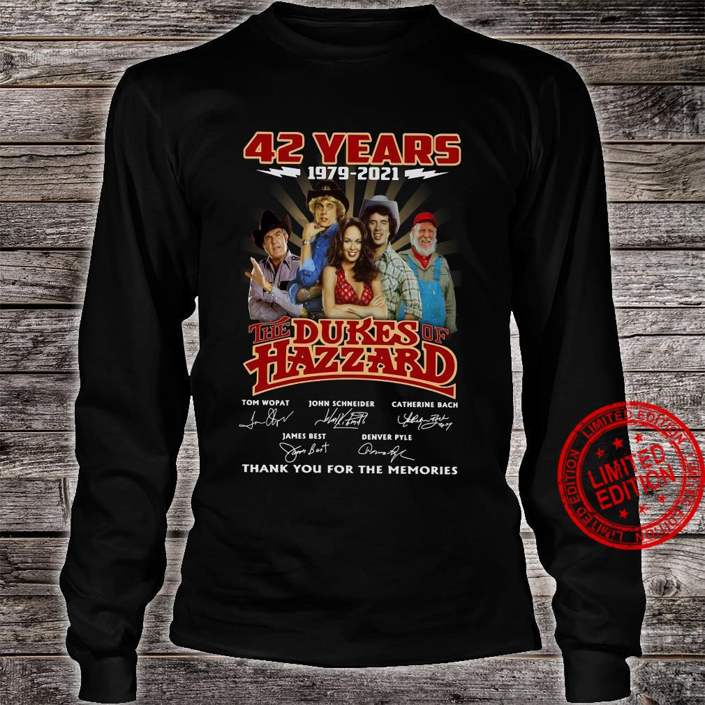 42 years 1979 2021 the dukes hazzard thank you for the memories shirt long sleeved