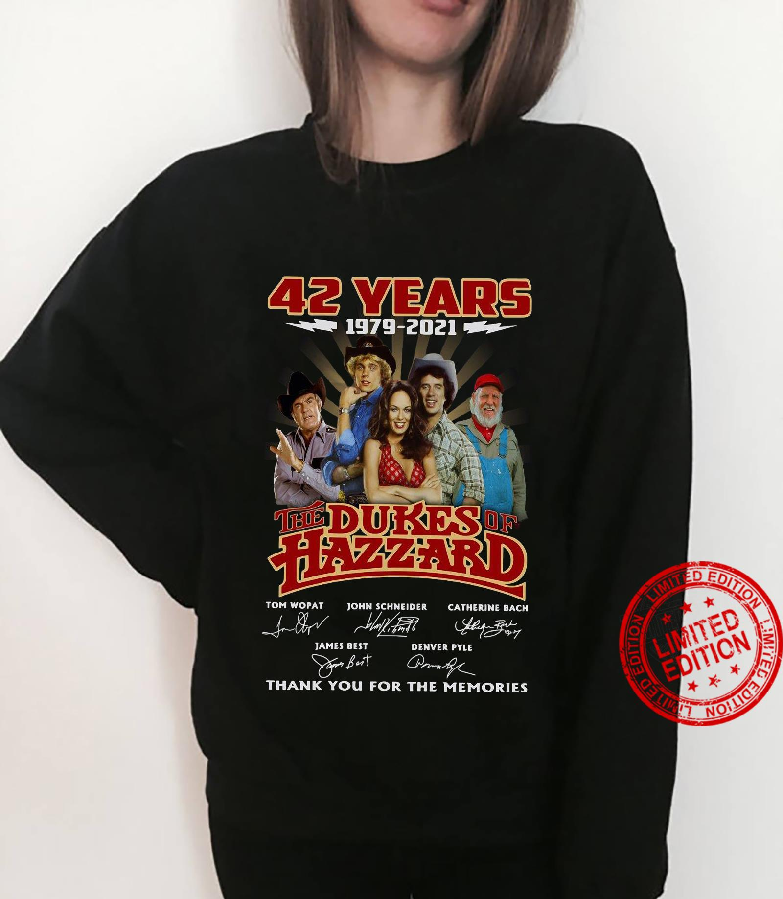 42 years 1979 2021 the dukes hazzard thank you for the memories shirt sweater