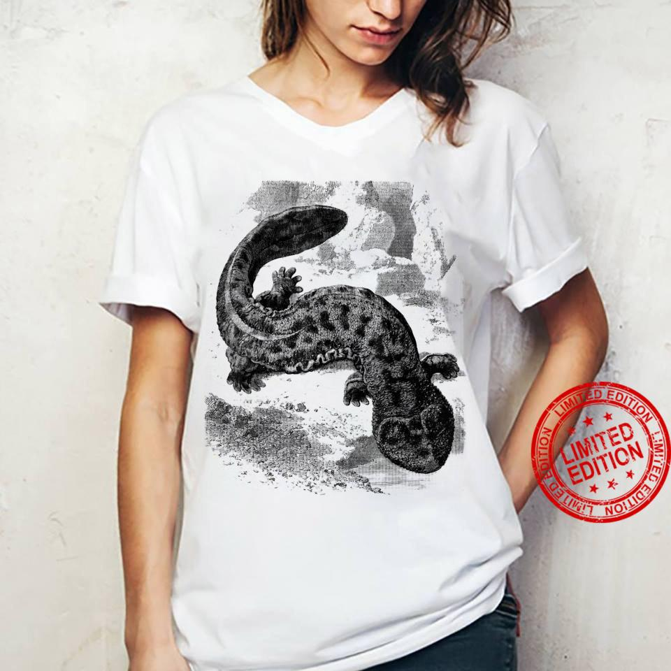 Amphibien Kollektion – Riesensalamander Vintage Zeichnung Shirt ladies tee