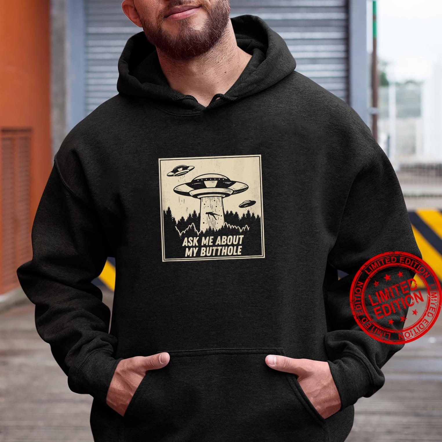 Ask Me About My Butthole Vintage UFO Alien Abduction Shirt hoodie