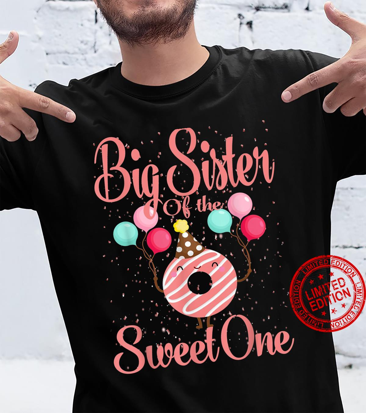 Big Sister Of The Sweet One Donut Shirt