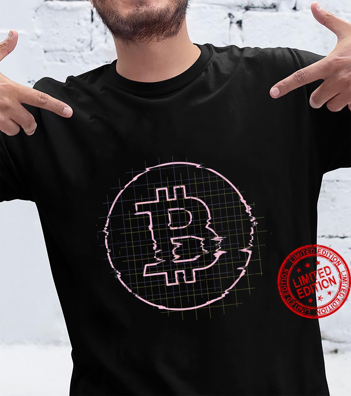 Bitcoin Crypto Digital Glitch Shirt