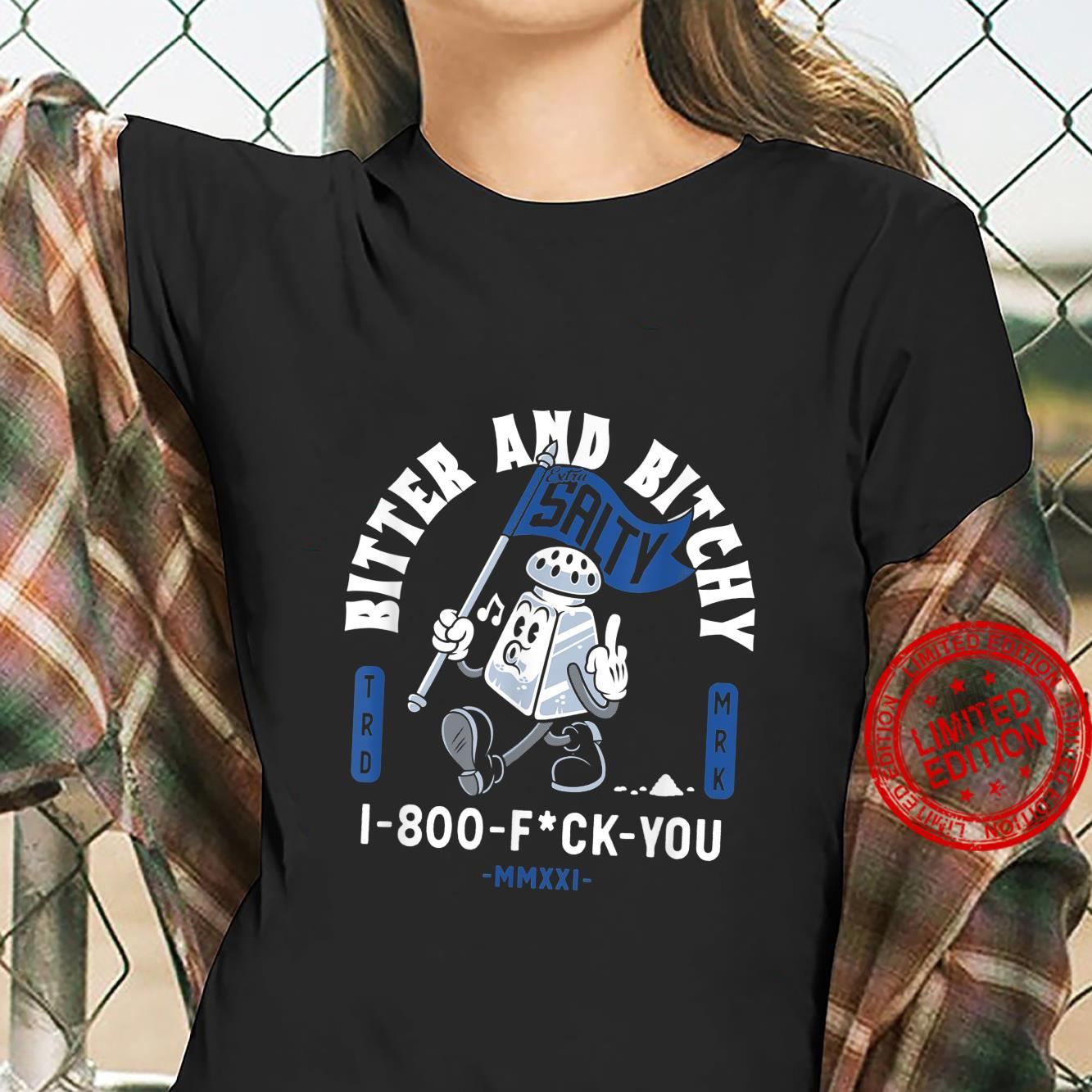 Bitter and Bitchy Extra Salty NSFW Vintage Cartoon Shirt ladies tee