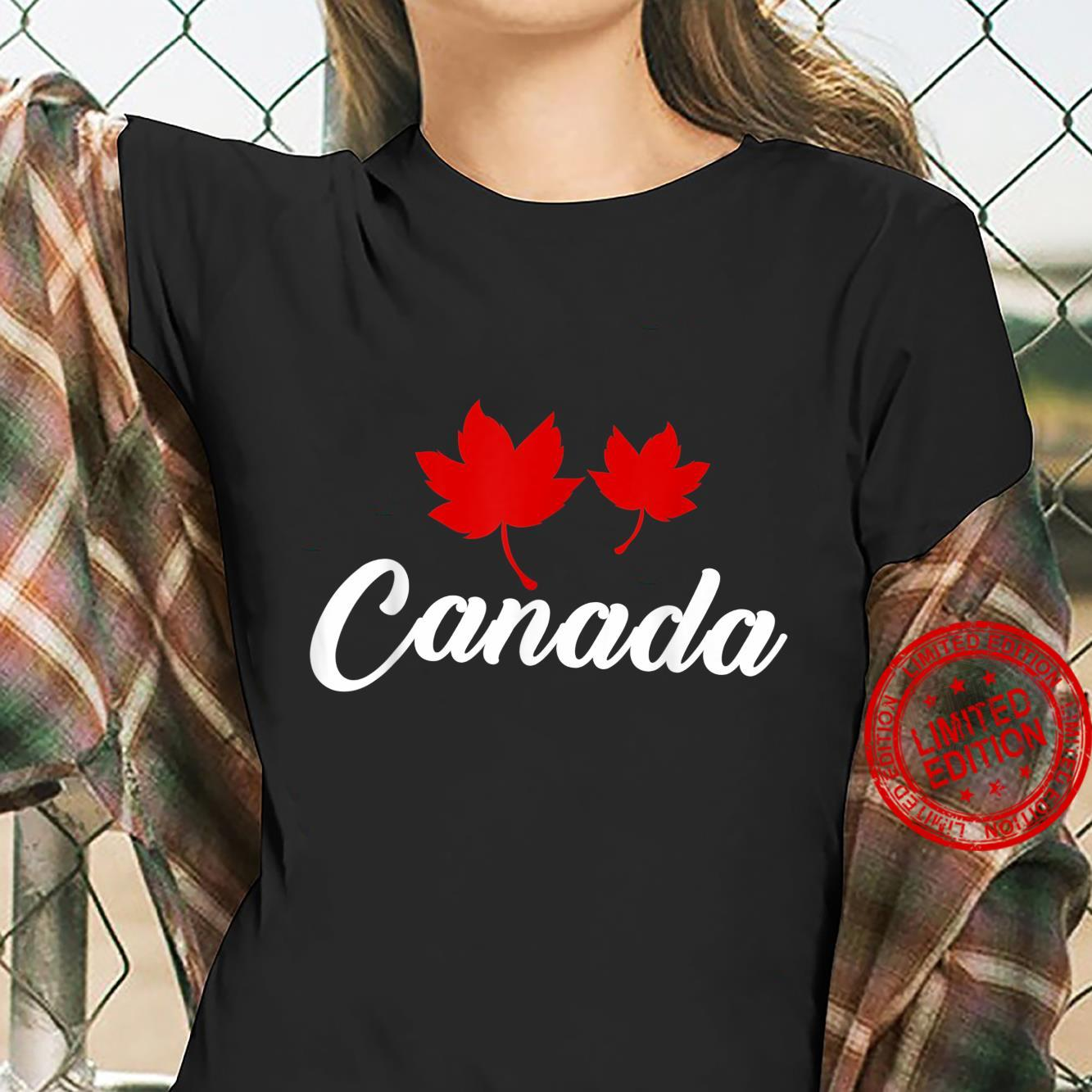 Canadian Country Maple Leaf Canada Shirt ladies tee