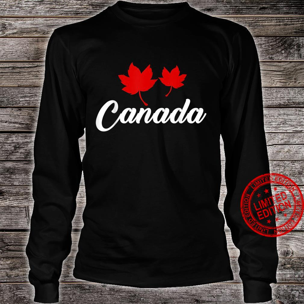 Canadian Country Maple Leaf Canada Shirt long sleeved