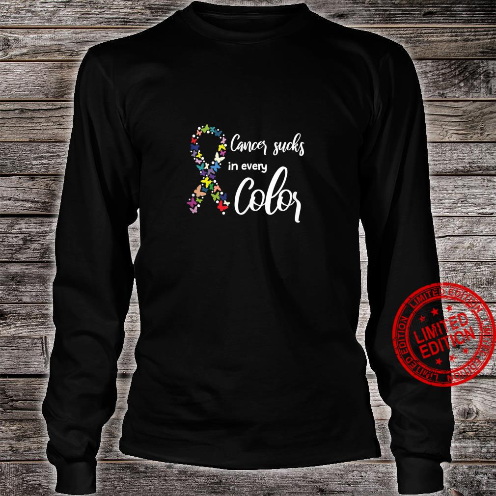 Cancer Sucks In Every Color, Cancer Support Ribbons Shirt long sleeved