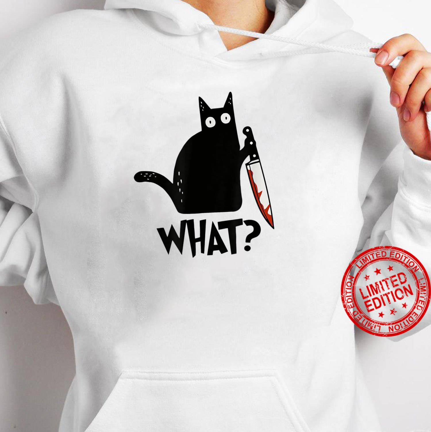 Cat What Black Cat Murderous Cat With Knife Shirt hoodie