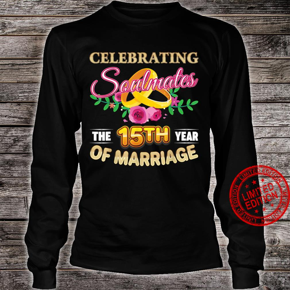 Celebrating The 15th Year Of Marriage 15 Years Anniversary Shirt long sleeved