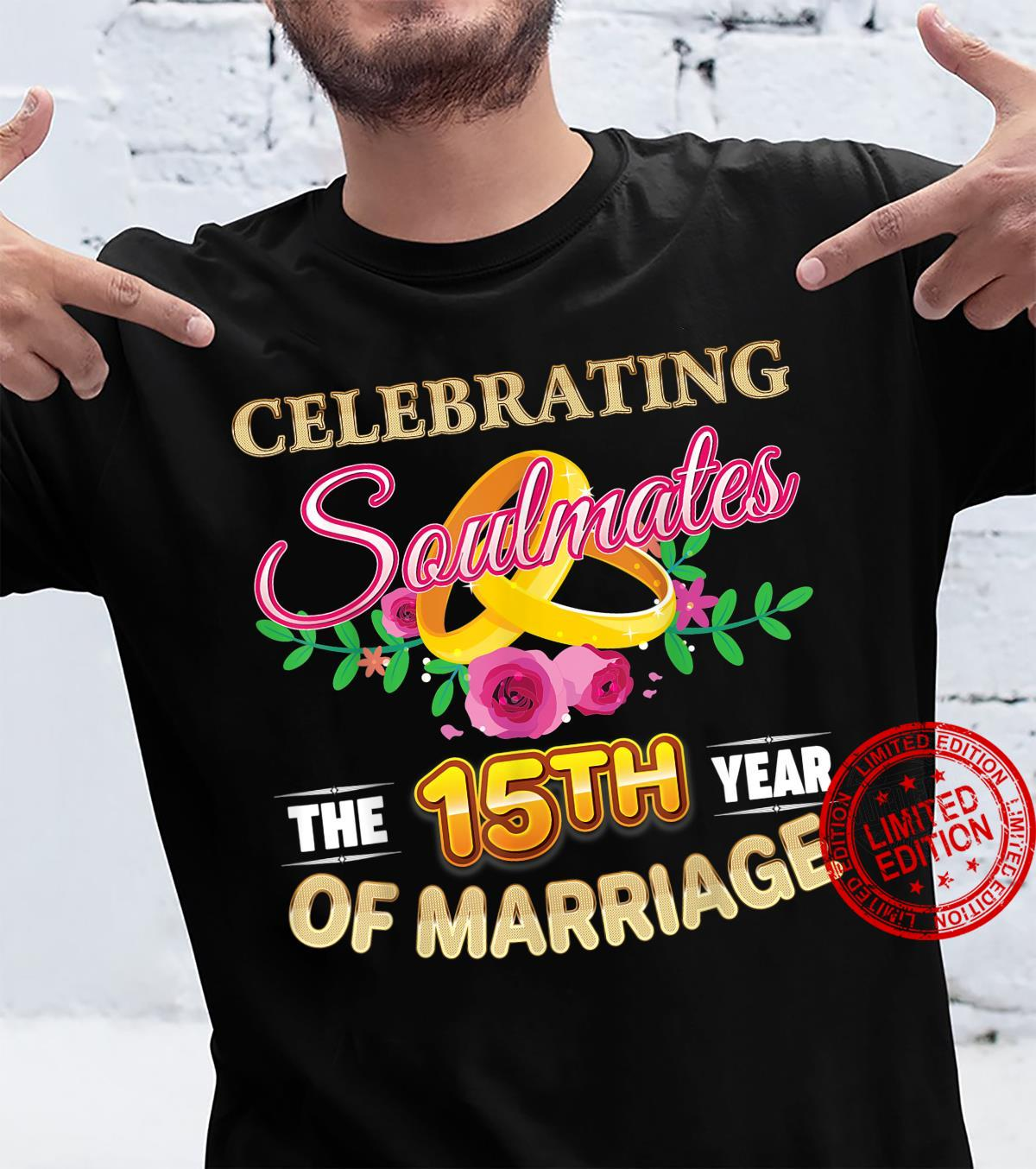 Celebrating The 15th Year Of Marriage 15 Years Anniversary Shirt
