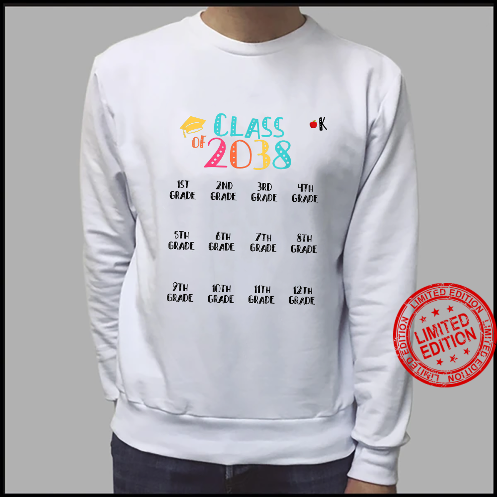 Class of 2038 Grow With Me Shirt With Space For Checkmarks Shirt sweater