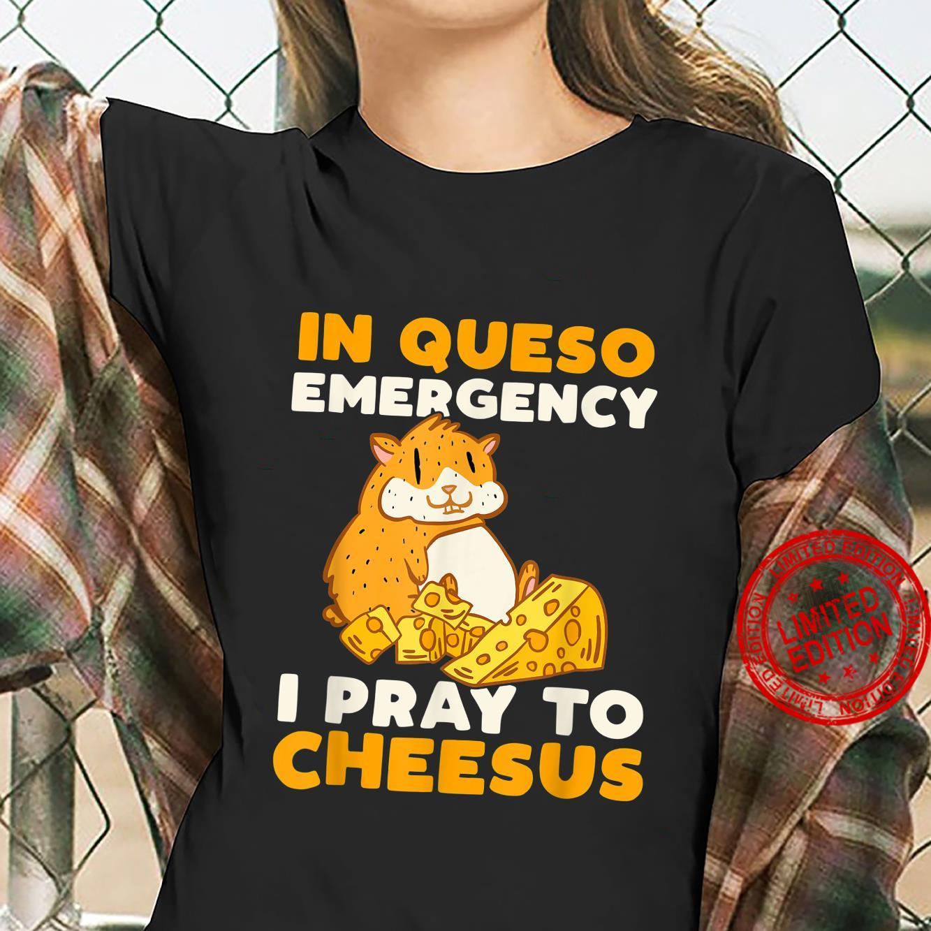Cute Hamster Pet Cheese Pun Hamsters Shirt ladies tee