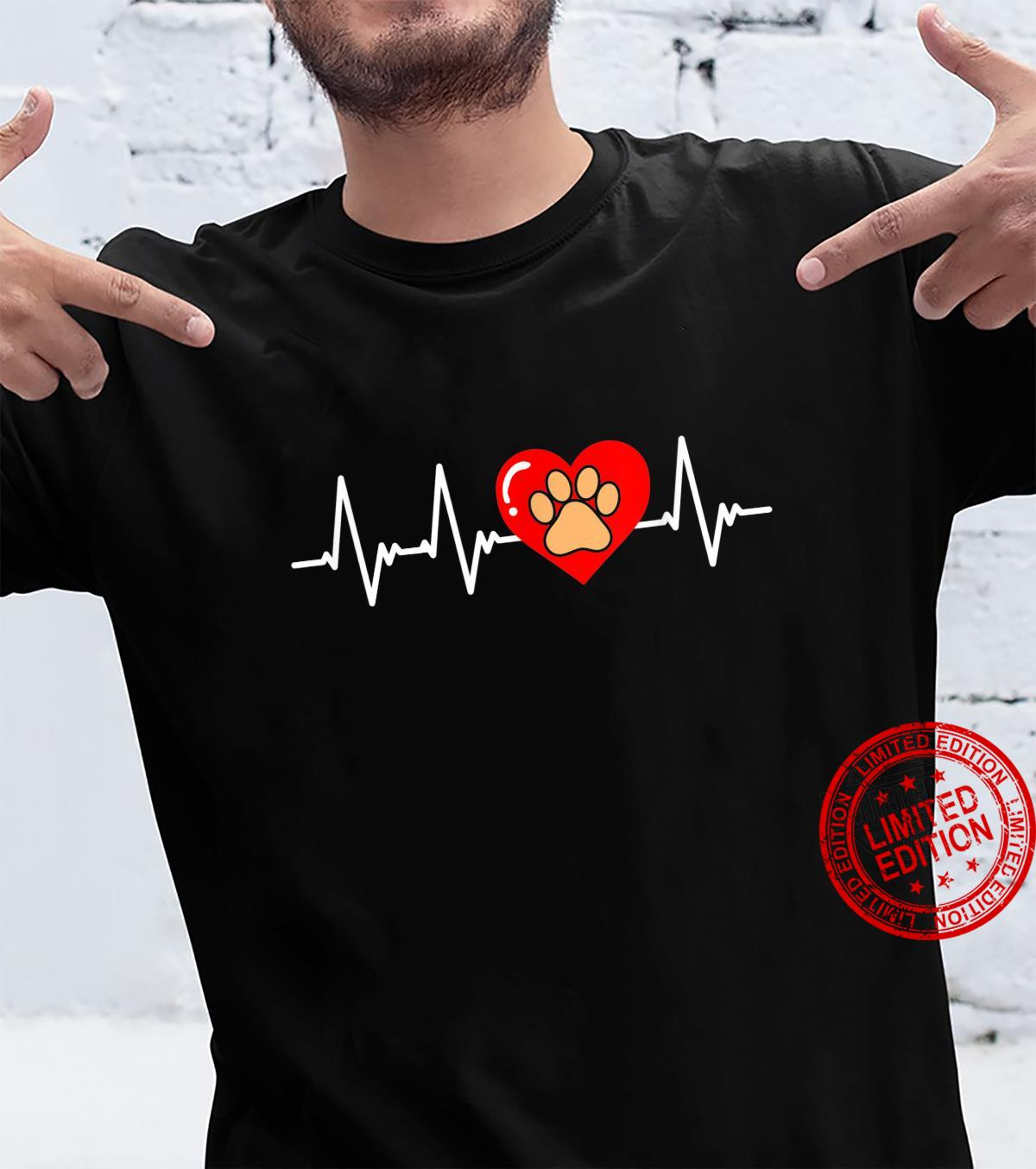 Cute dog paw dogs heartbeat heart rate dog owner Shirt