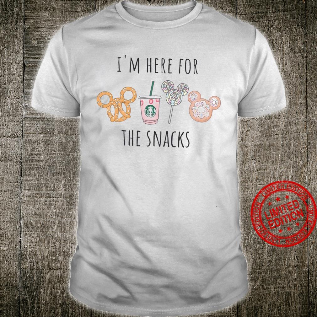 Disney Donut And Starbucks I'm Here For The Snacks Shirt