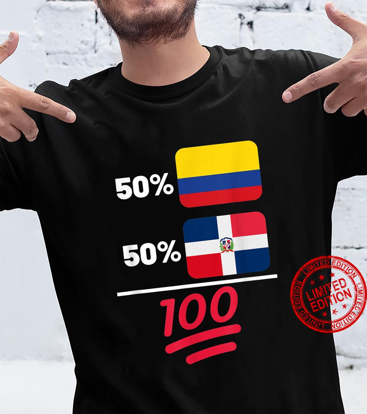 Dominican Plus Colombian Mix Flag Heritage Shirt