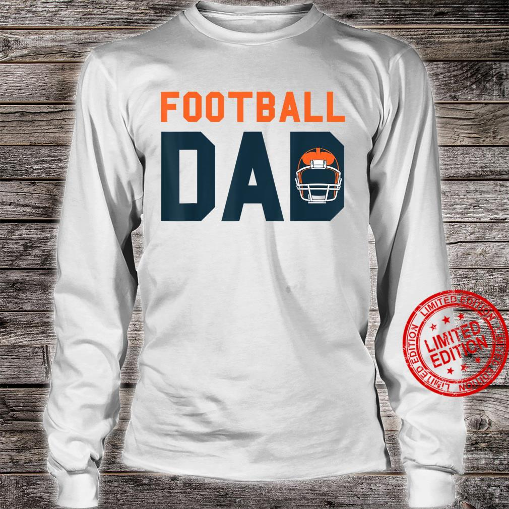 Football Dad Fathers Day American Football Sport Tournamet Shirt long sleeved