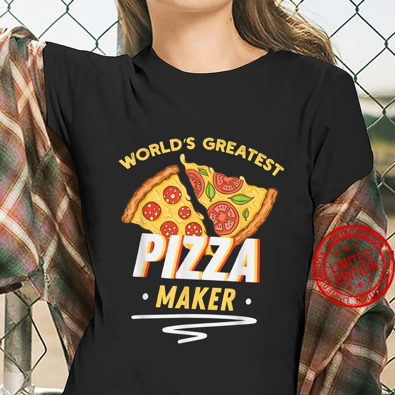 Funny Pizza Pizza Delivery Man Pizza Maker Shirt ladies tee