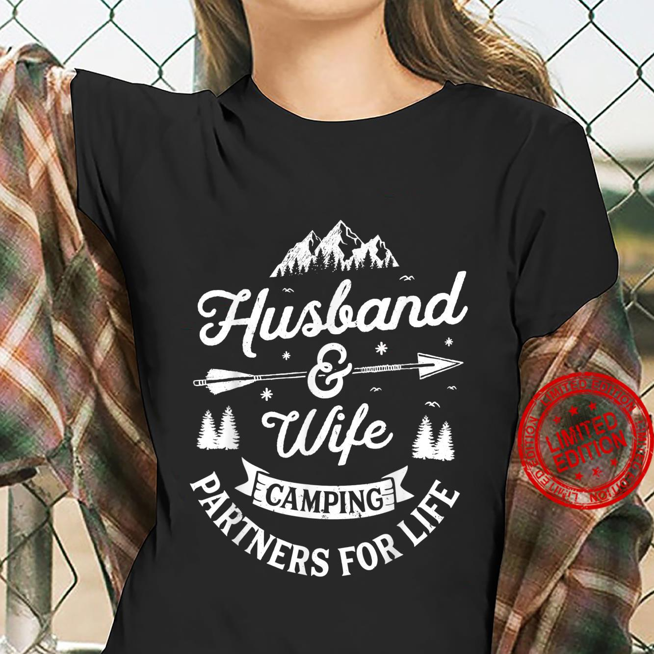 Husband and Wife Camping Partners For Life Shirt ladies tee