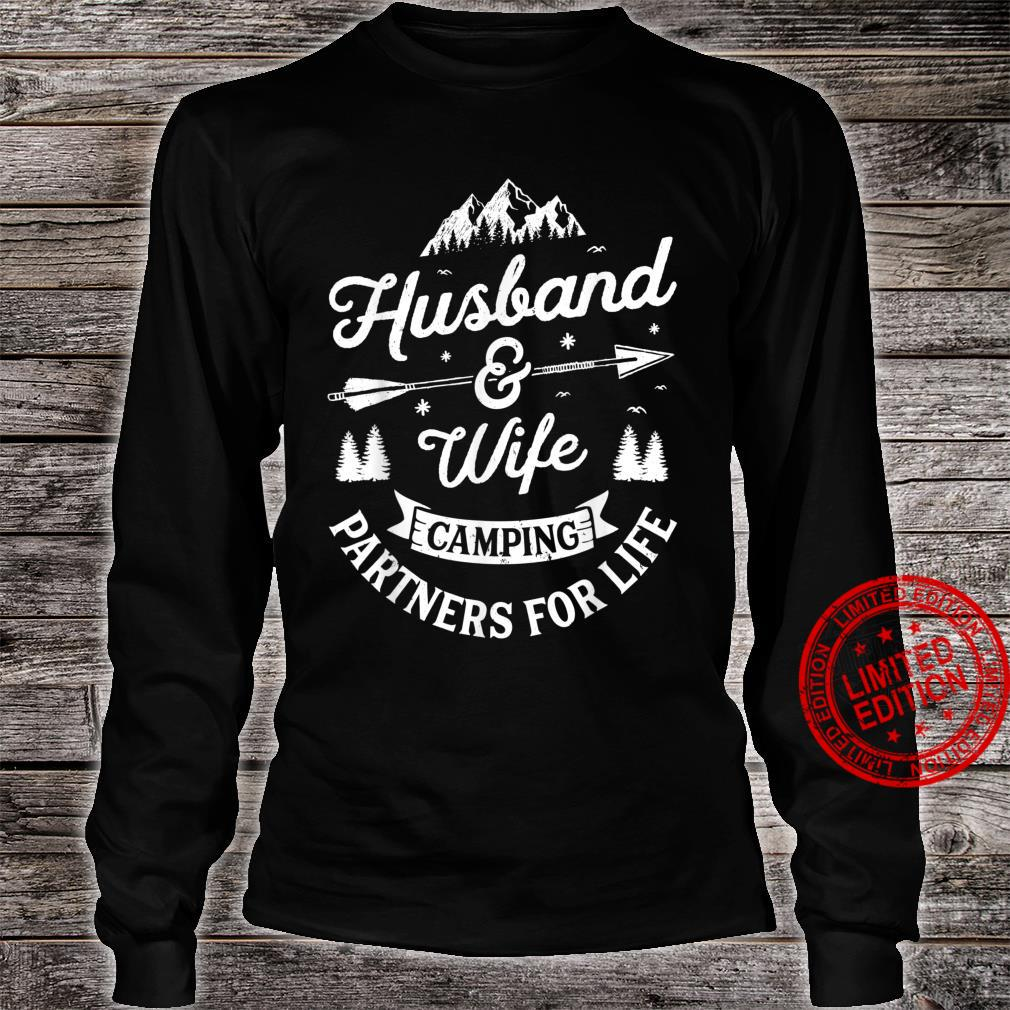 Husband and Wife Camping Partners For Life Shirt long sleeved