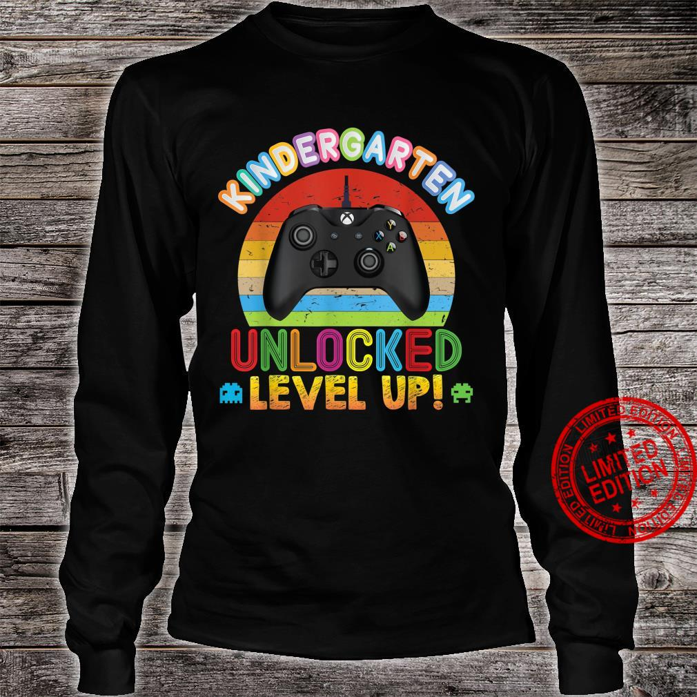 Kindergarten Unlocked Level Up Video Game Console Back To Shirt long sleeved