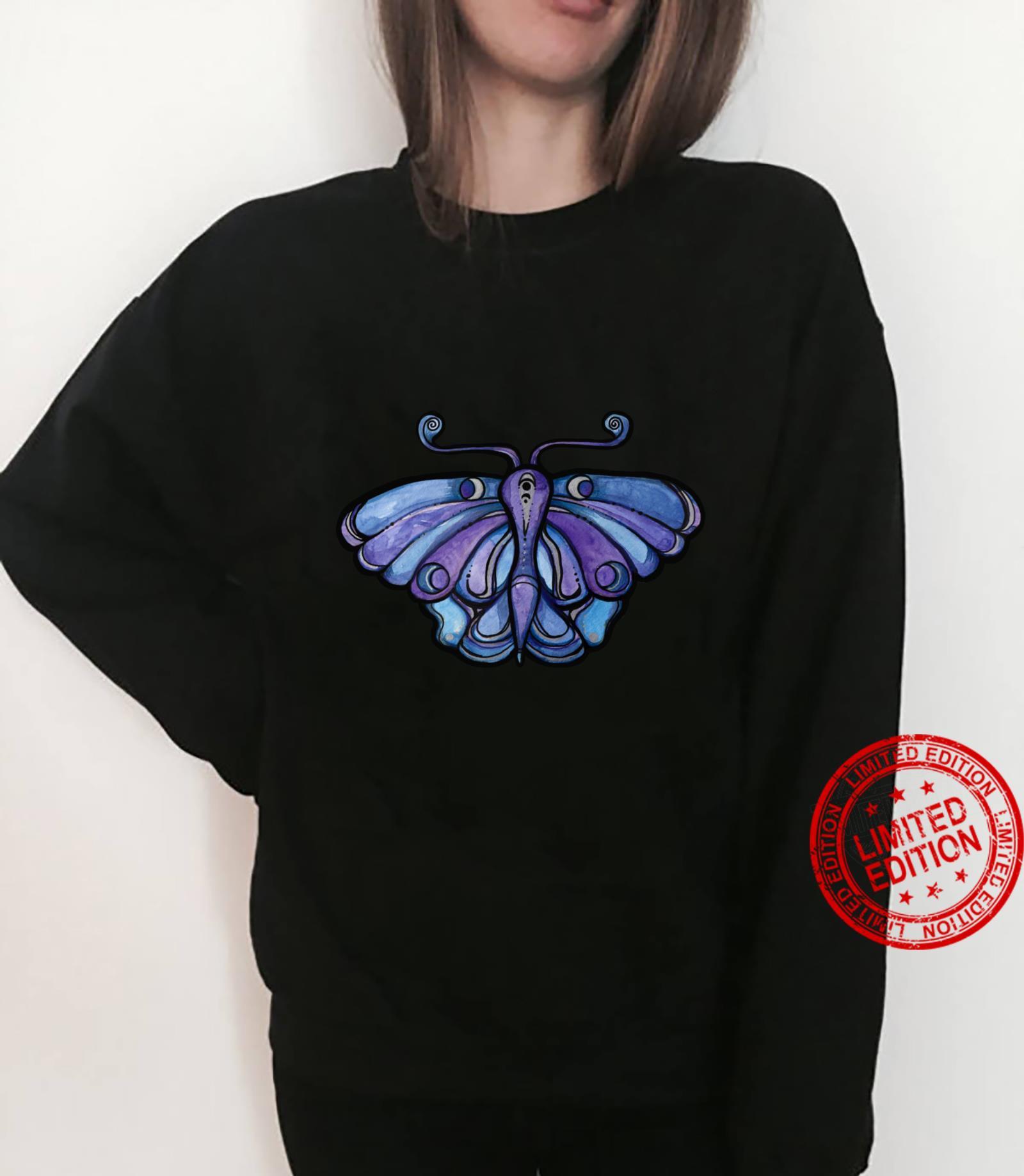 Luna Moth Purple Moths Shirt sweater