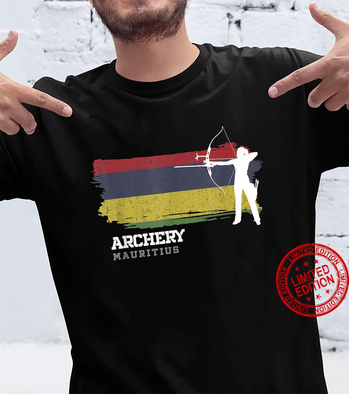 Mauritius Archery Girl Mauritian Flag Bow Arrow Shirt