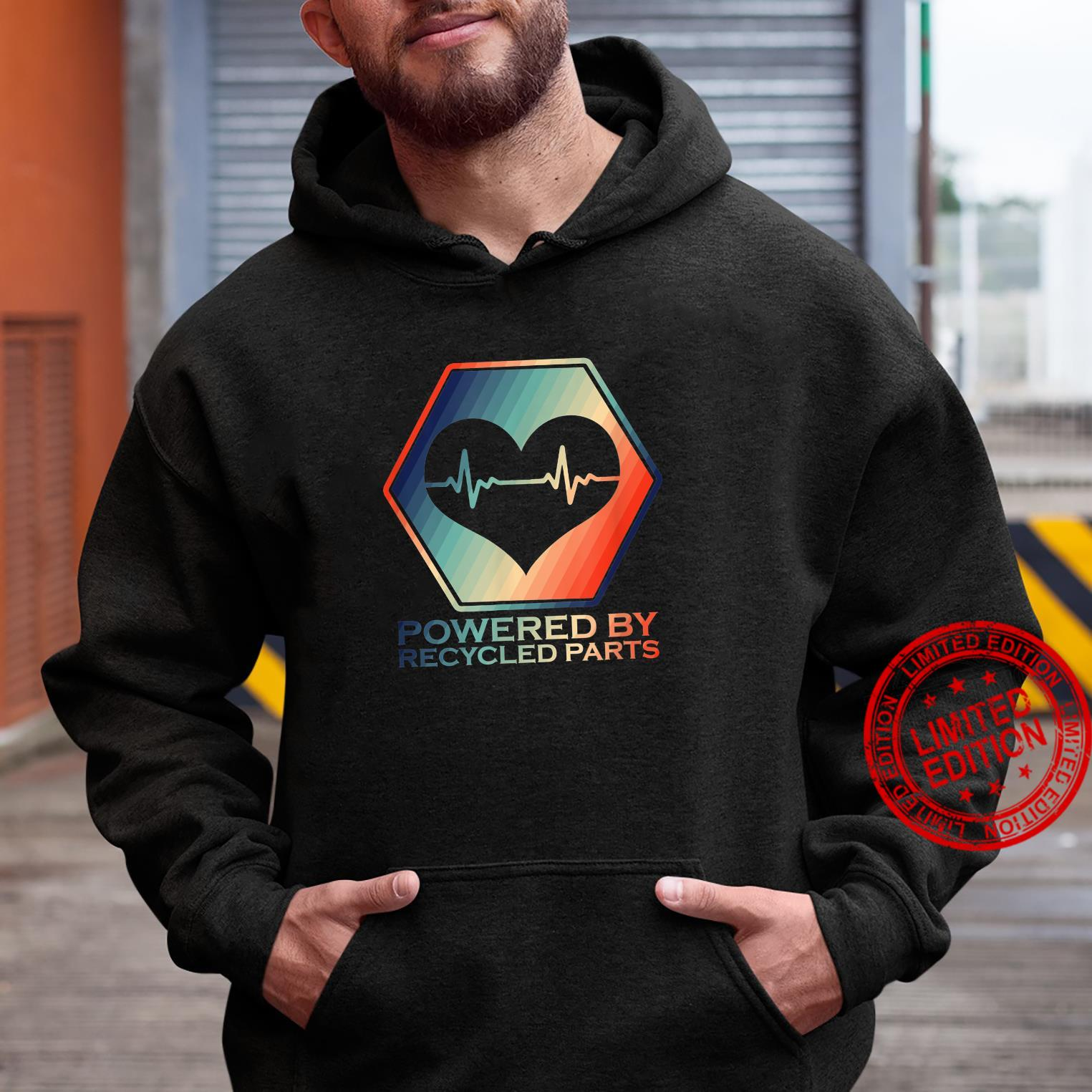 Powered By Recycled Parts Heart Transplant Survivor Shirt hoodie
