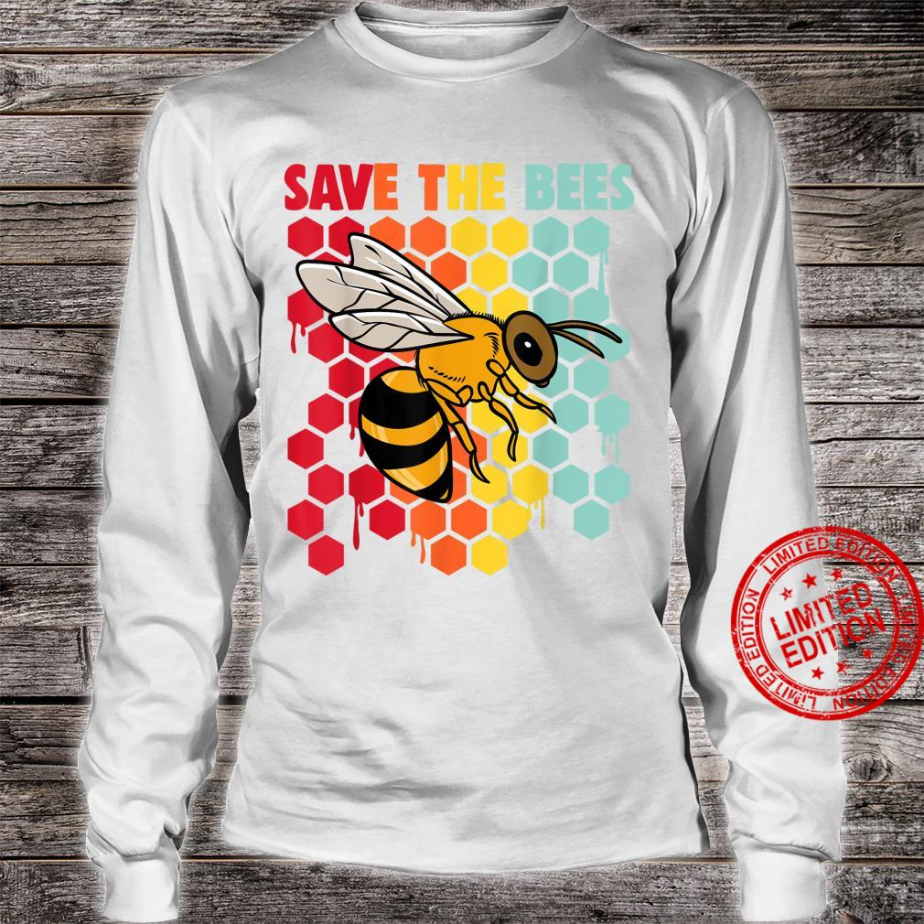Retro Vintage Beekeeper Save The Bees Shirt long sleeved