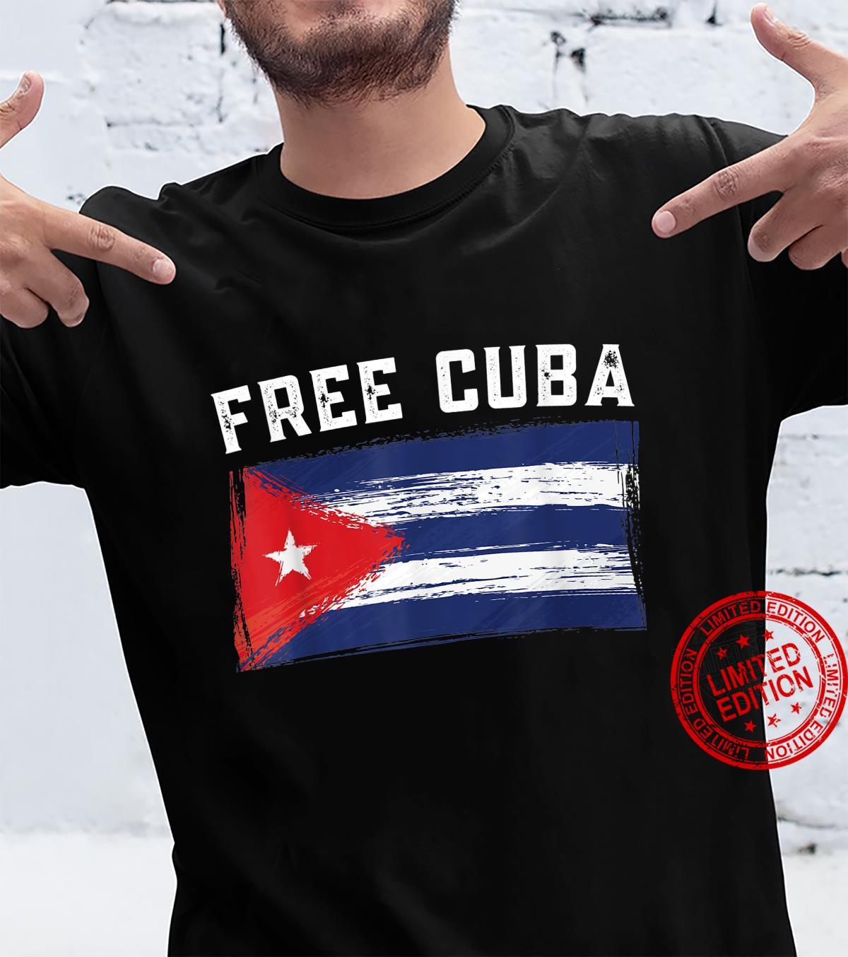 SOS Cuba, Free_Cuba_Shirt, Cuba Pride, Nuestra Cuba Shirt