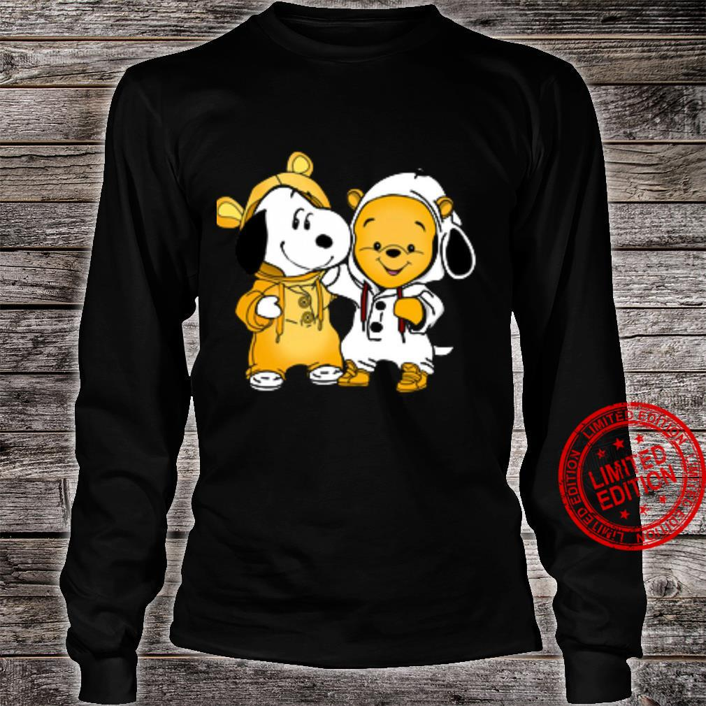 Snoopy And Pooh Shirt long sleeved