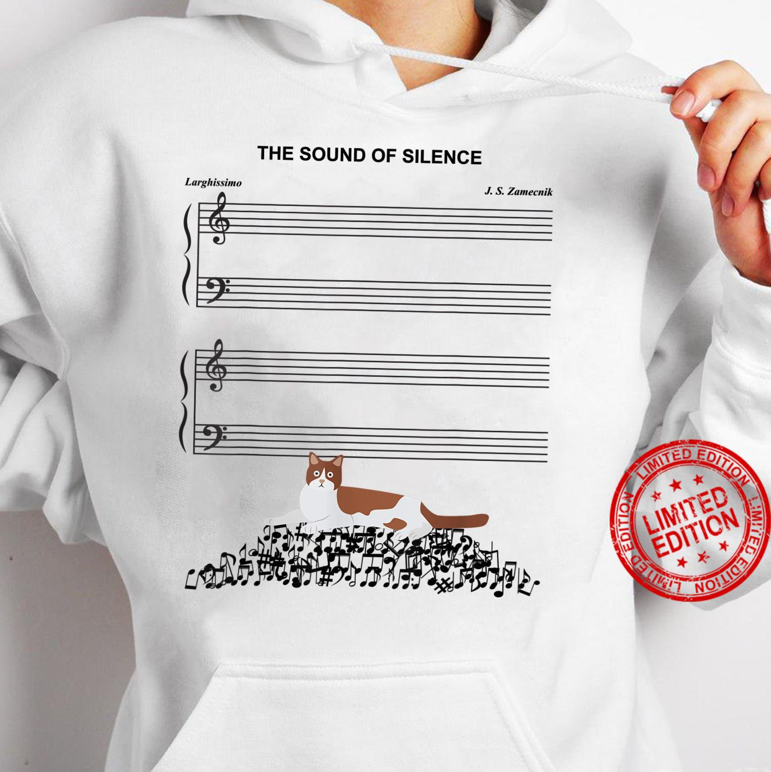 The Sound Of Silence Music And Cat Shirt hoodie