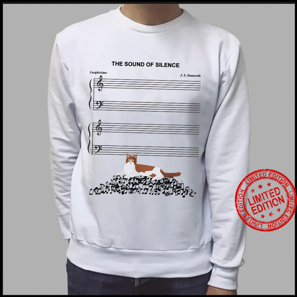 The Sound Of Silence Music And Cat Shirt sweater