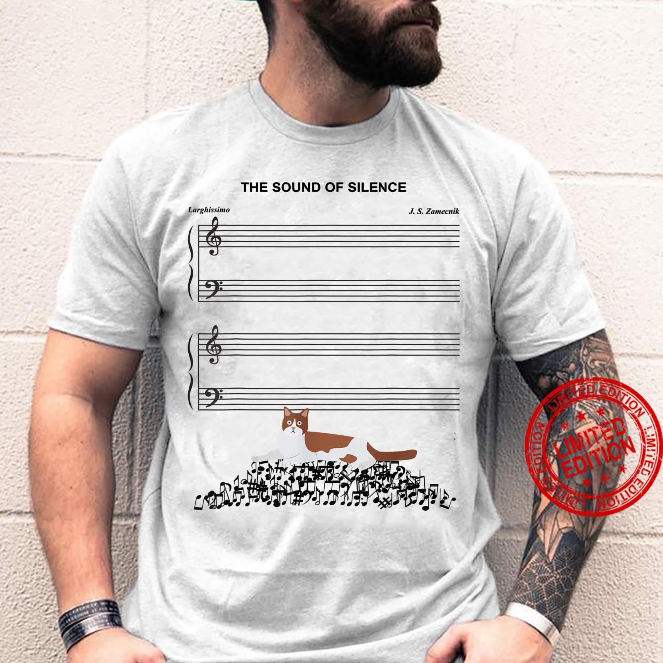 The Sound Of Silence Music And Cat Shirt