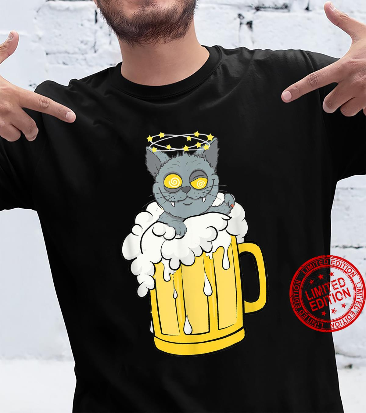 Tu Cat Beer Drinking Party Costume Dog Shirt