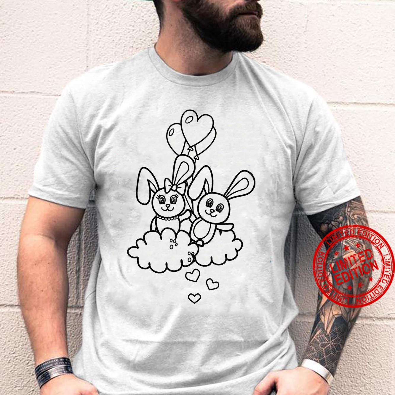 Valentines Day Bunny Hares Creative Design For Coloring Shirt