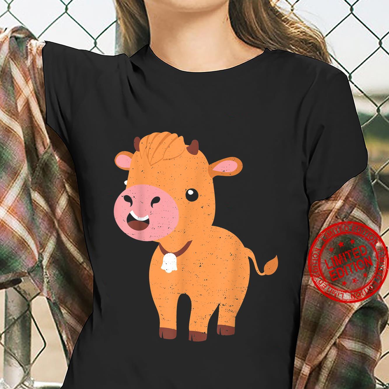 Vieh Highland Cattle Cow Landwirt Sprüche Shirt ladies tee