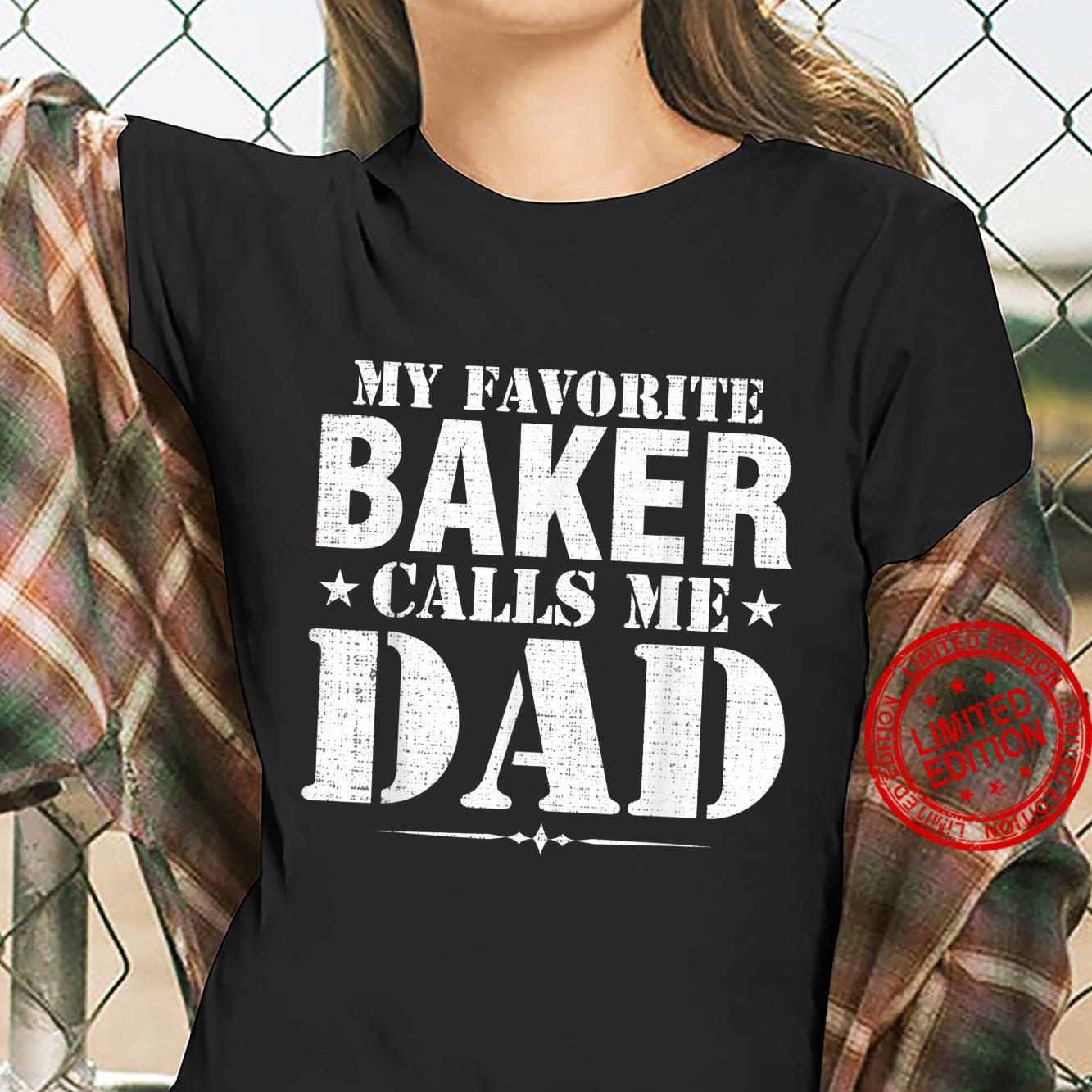Vintage My Favorite Baker Calls Me Dad Father's Day Shirt ladies tee