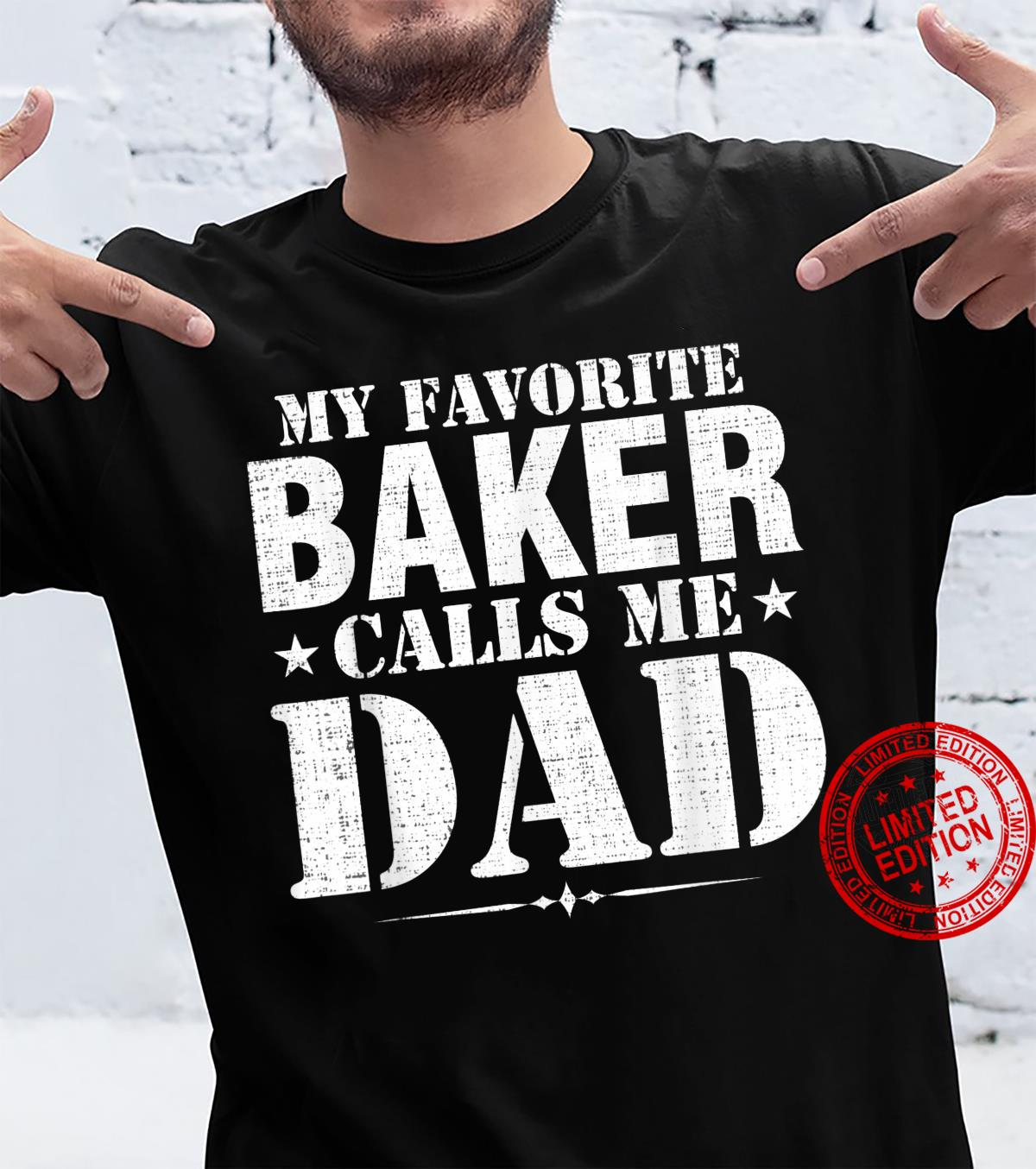 Vintage My Favorite Baker Calls Me Dad Father's Day Shirt