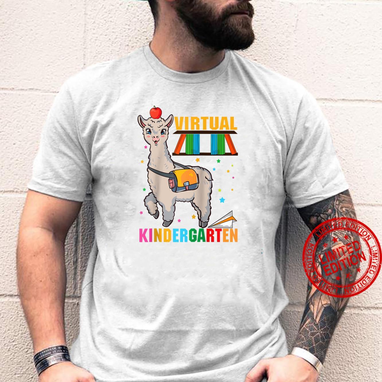 Virtual Kindergarten Llama Teacher Preschool Homeschool Shirt
