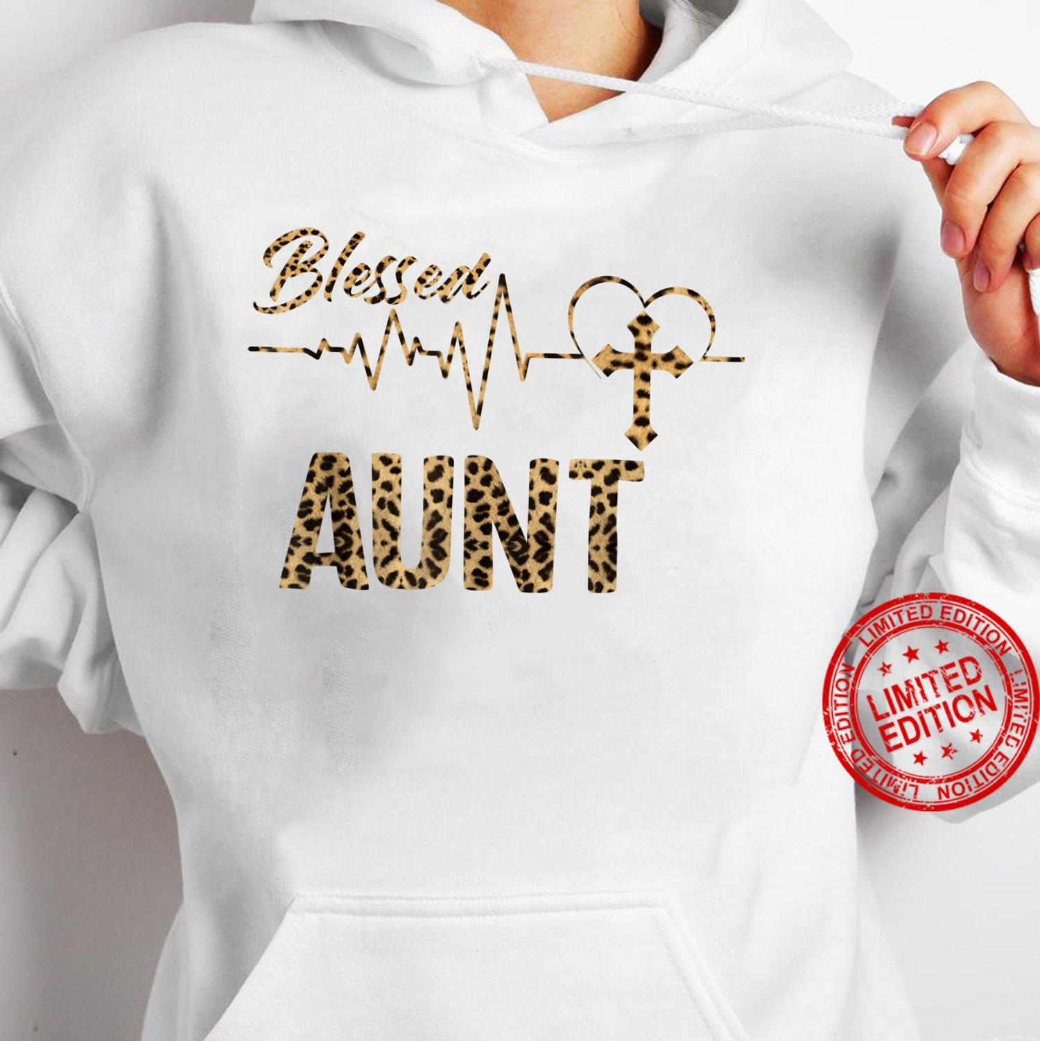 Women Blessed Aunt Mothers Day Grandma Leopard Shirt hoodie