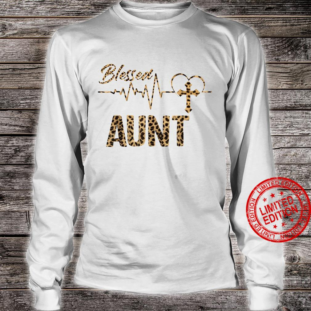 Women Blessed Aunt Mothers Day Grandma Leopard Shirt long sleeved