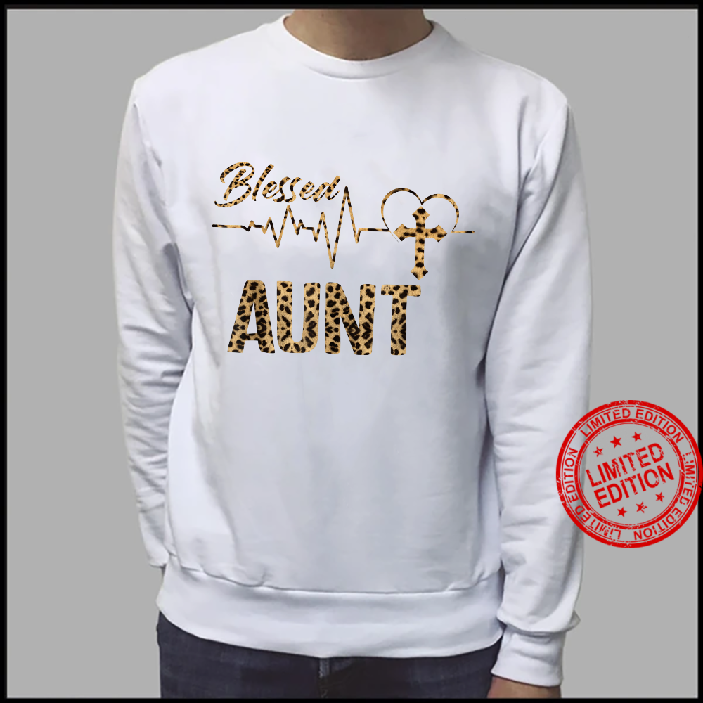 Women Blessed Aunt Mothers Day Grandma Leopard Shirt sweater
