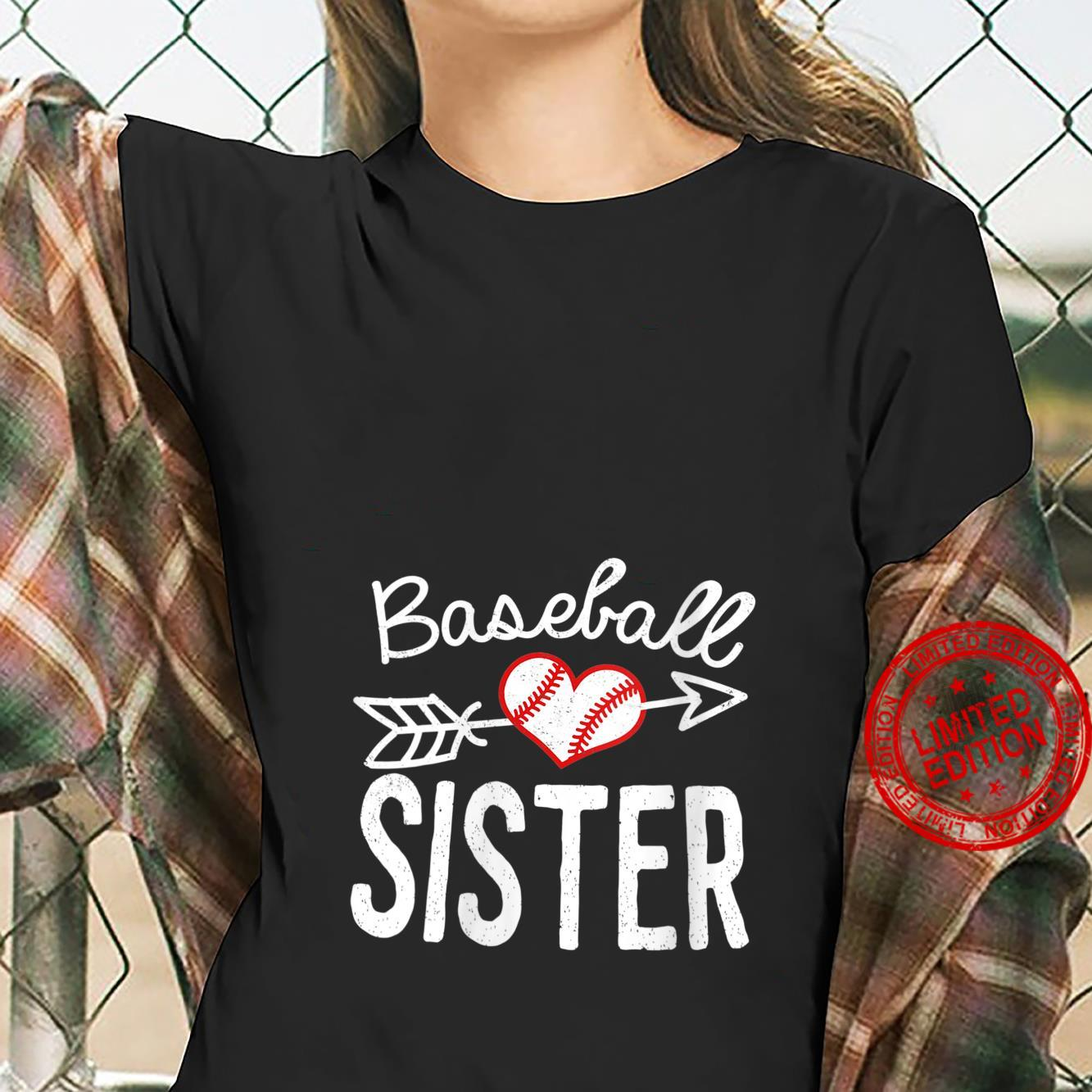 Womens Baseball Sister best for mom and sister Shirt ladies tee