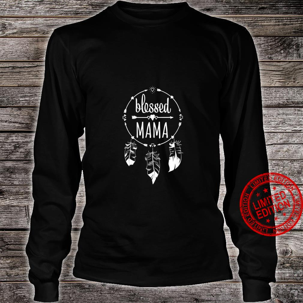 Womens Blessed Mama Mother's Day for Mommy Dream Catcher Shirt long sleeved