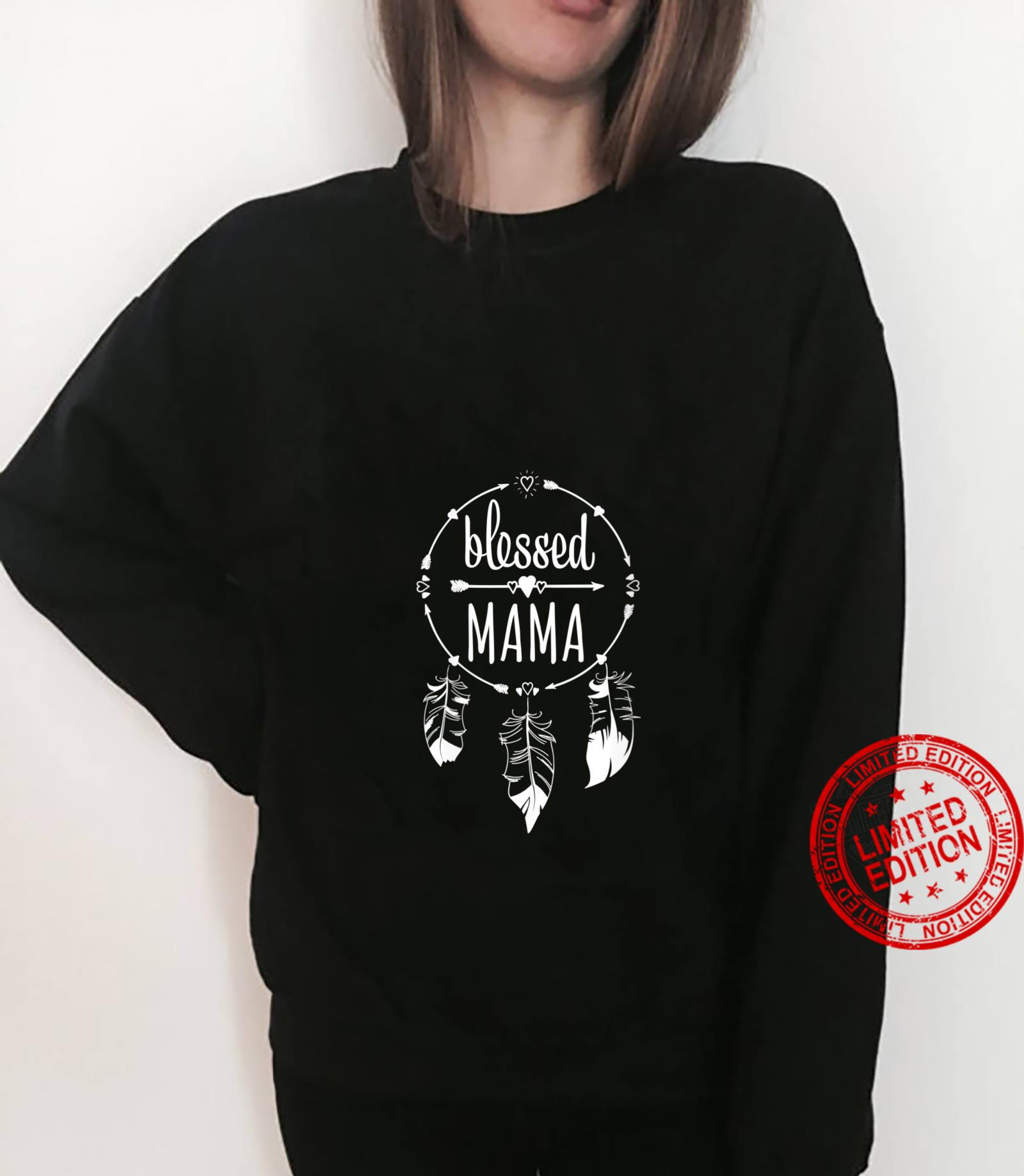 Womens Blessed Mama Mother's Day for Mommy Dream Catcher Shirt sweater