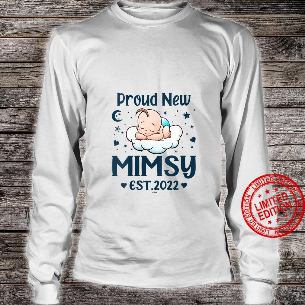 Womens Mimsy Proud New Mimsy EST 2022 Mother's day Shirt long sleeved