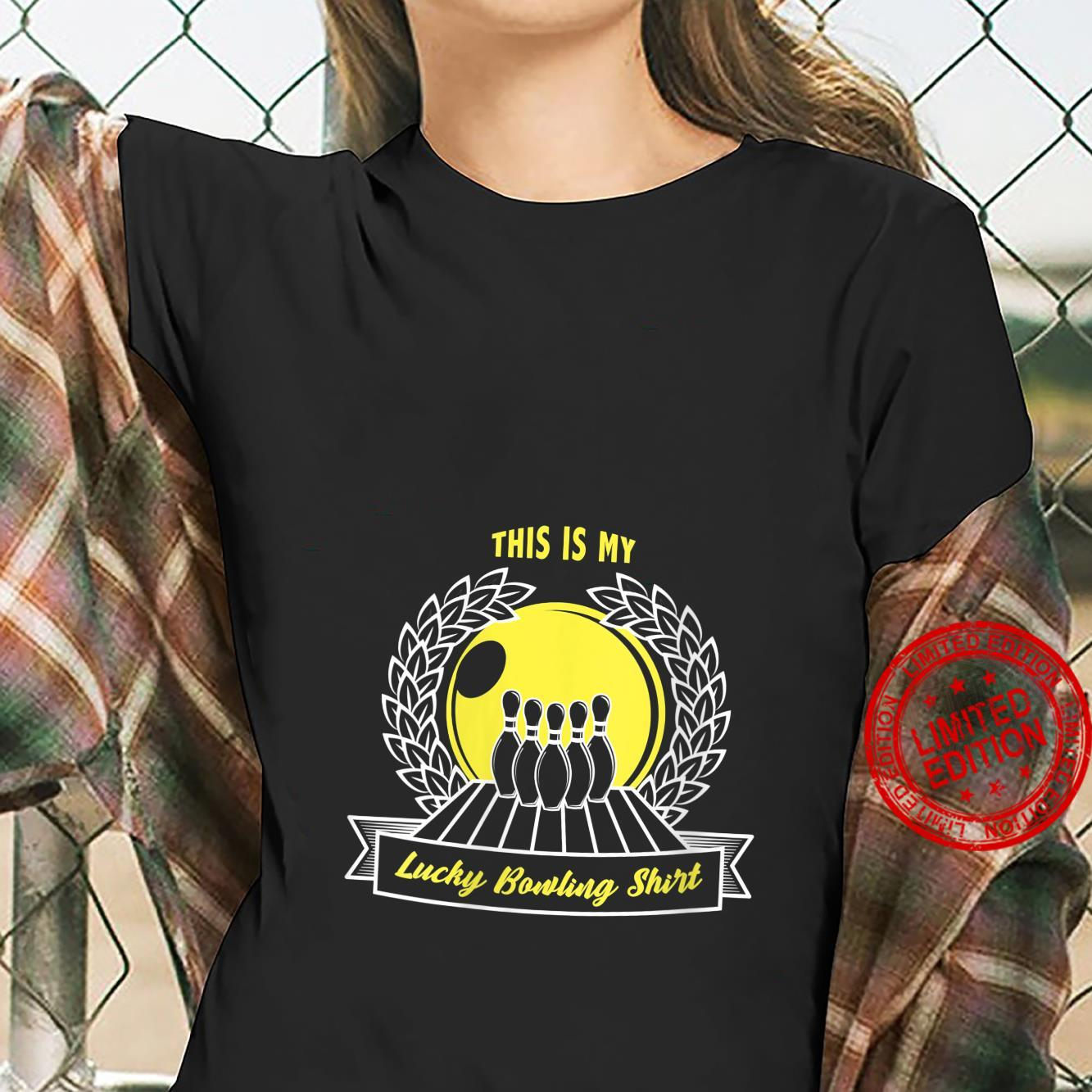 Womens This is my lucky bowling shirt ladies tee