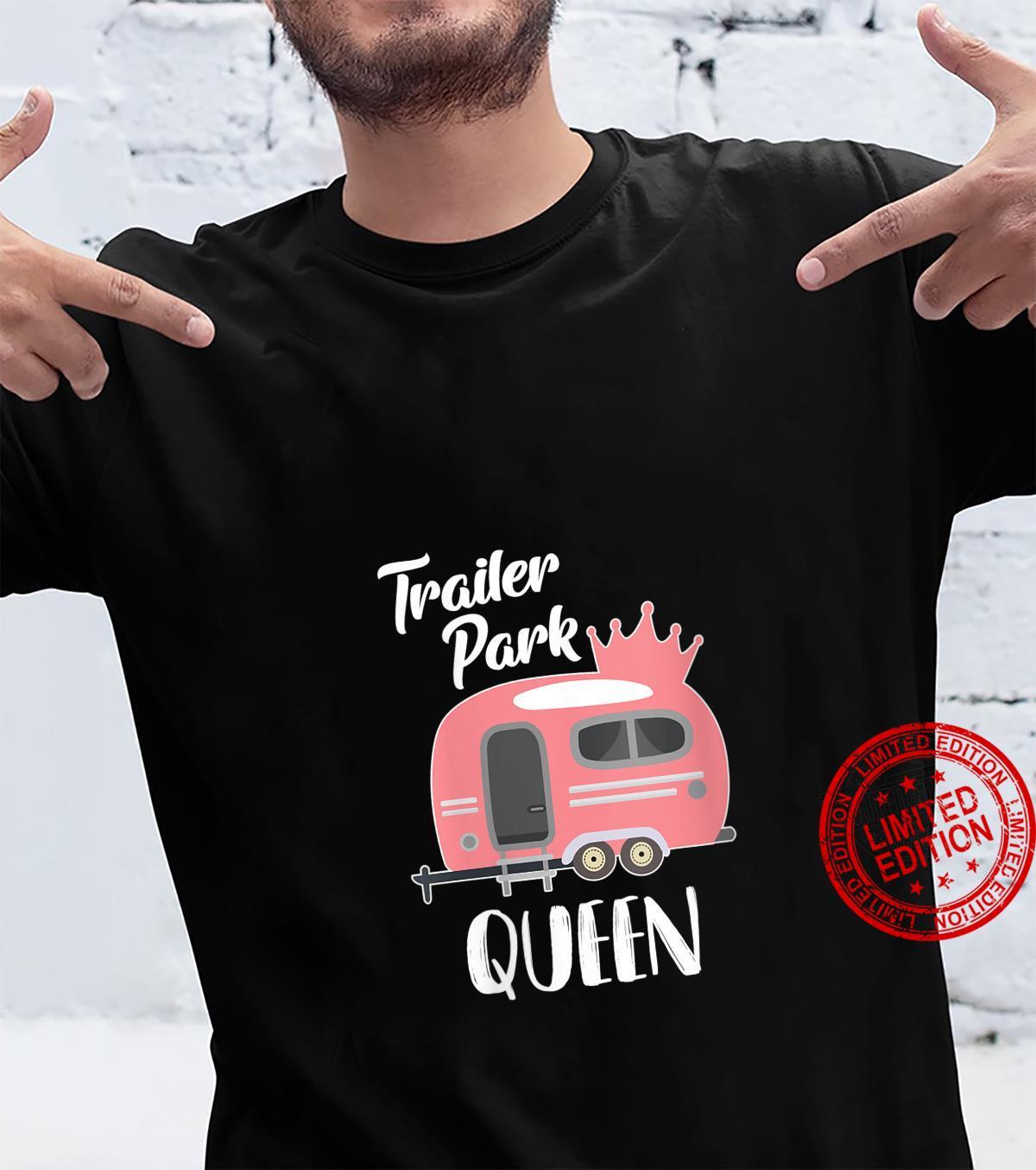 Womens Trailer Park Queen Queen of The trailer Park RV Design Shirt