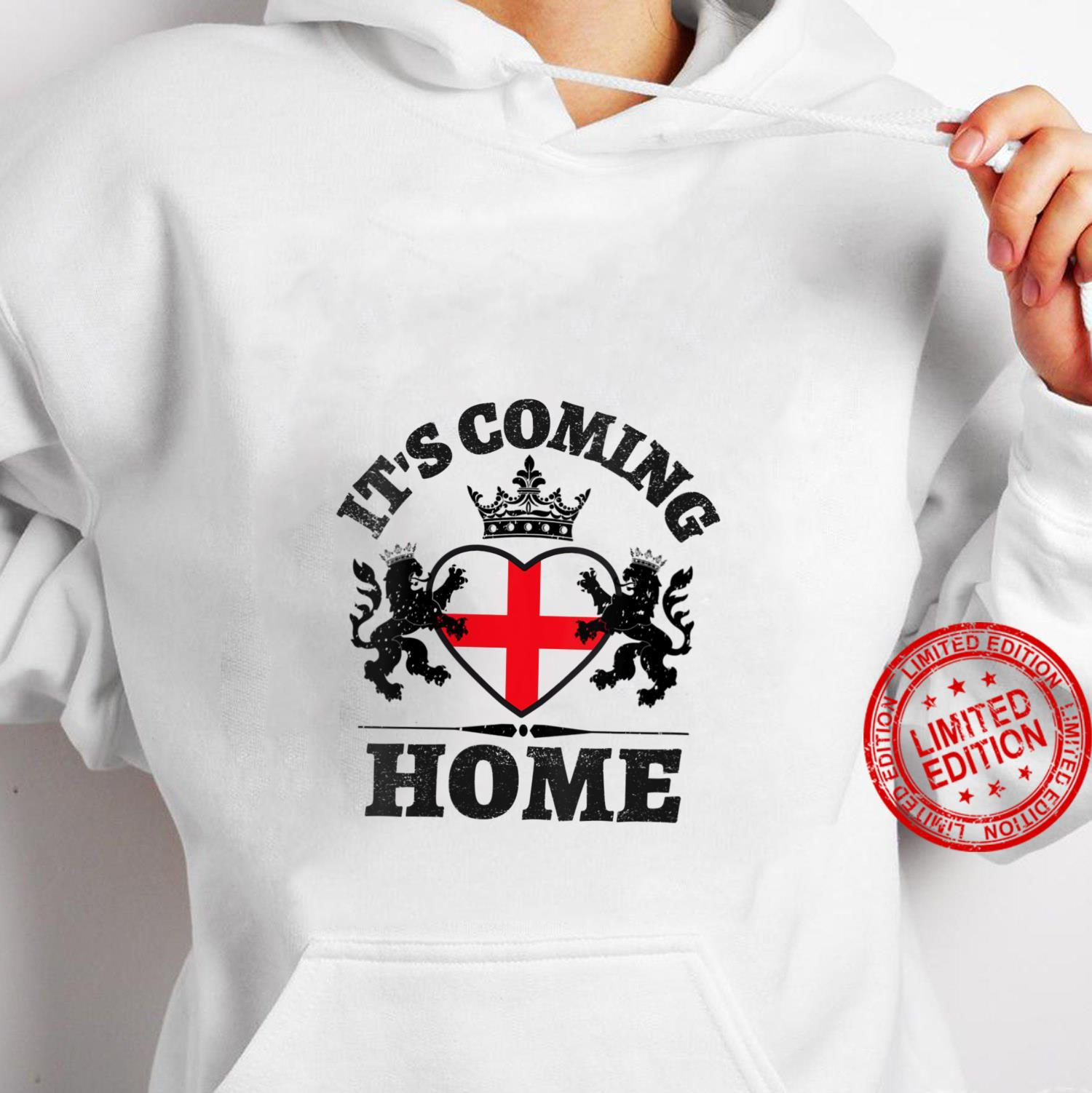 Womens Vintage England Flag Soccer Jerseys It's Coming Home Shirt hoodie